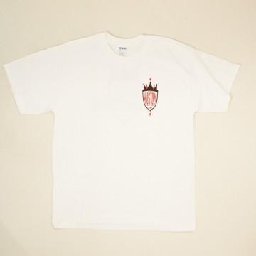 T-shirt Kustom chop blanc
