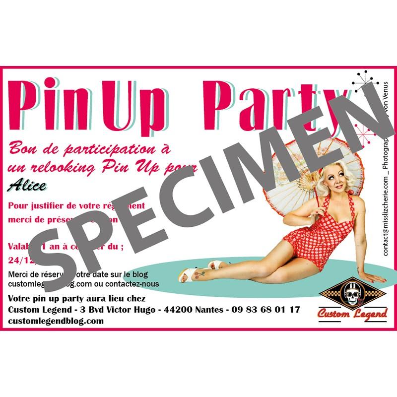 Bon cadeau pin up party