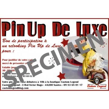Bon cadeau pin up party de Luxe