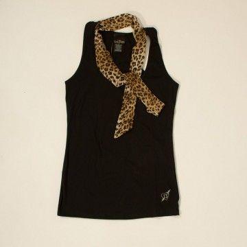 top avec scarf léopard