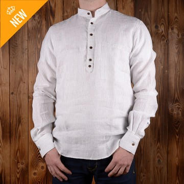 Chemise buccaneer blanc lin 1923 Pike Brothers