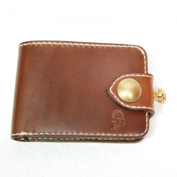 Portefeuille citadin marron Red's Leather