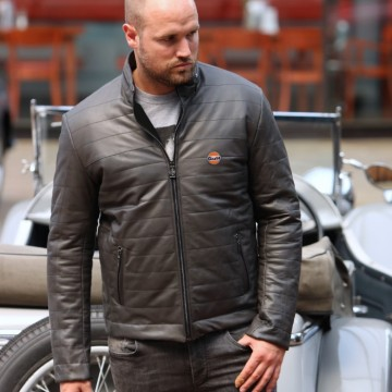 Blouson cuir Monza Gulf Grandprix Originals
