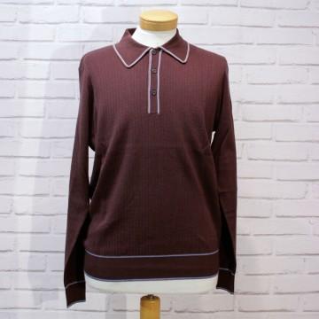 Polo tricot retro Isley chocolat