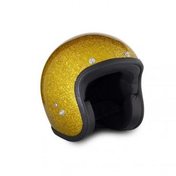Casque Metalflakes gold 70's Helmets