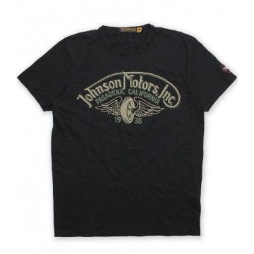 Tee shirt winged wheel Johnson Motors