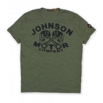 Tee shirt 1938 skull Johnson Motors