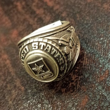 Bague US ARMY metal top