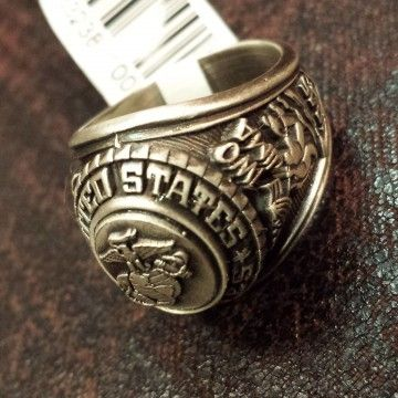 Bague US MARINE CORP metal top