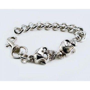 bracelet stacked skulls