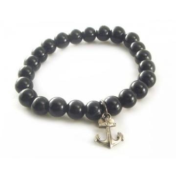 Bracelet perle et ancre
