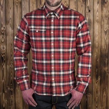 chemise roamer 1937 flanel rouge