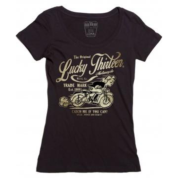Tee shirt femme Catch me Lucky 13