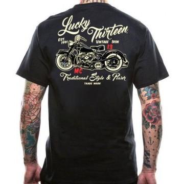 Tee shirt vintage Iron Lucky 13