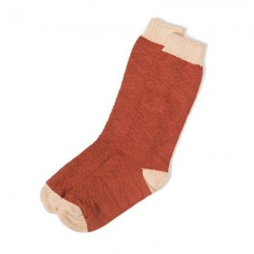 chaussettes cocoon rusty red A piece of chic