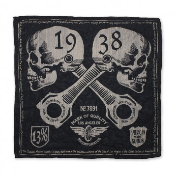 Bandana skulls black Johnson Motors