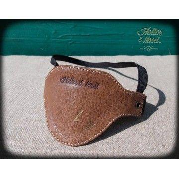 Protection sélecteur cuir marron