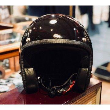 Casque Pastello glossy black 70's Helmets