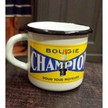 Mug Champion métal émaillé