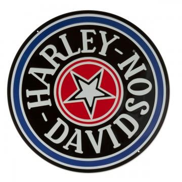 Plaque Harley Davidson fat boys gas