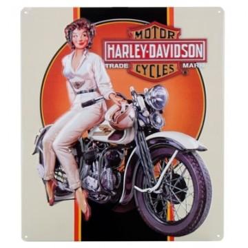 Plaque Harley Davidson dreaming babe
