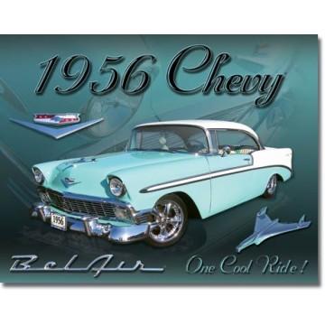 Plaque metal chevy Bel air 1956