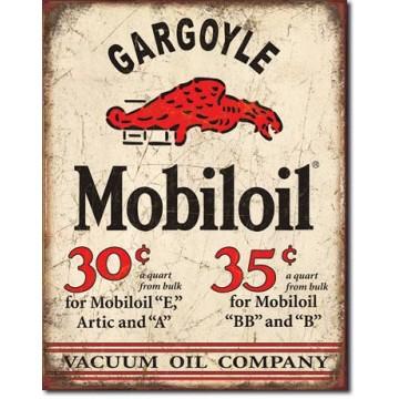 Plaque métal Mobil Gargoyle