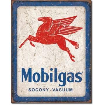 Plaque métal Mobilgas