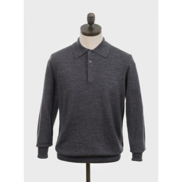 Polo tricot retro Mason charcoal