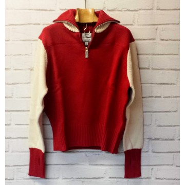 Motorcycle sweater femme rouge Gentlemen's factory