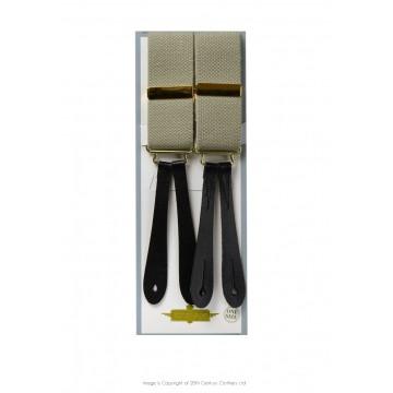 Bretelles à boutonnées taupe