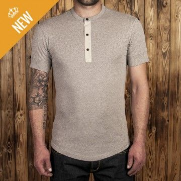 Polo Henley 1927 MC Fog brown Pike Brothers