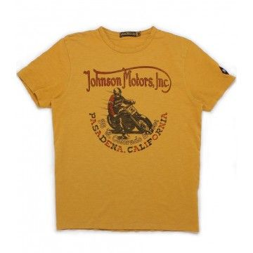 Tee-shirt steel shoe racer Johnson Motors