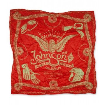 Bandana Winged wheels red Johnson Motors