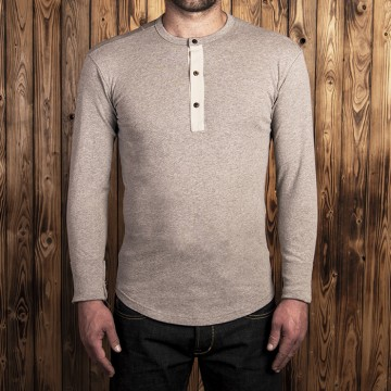 Polo Henley 1927 ML fog brown Pike Brothers