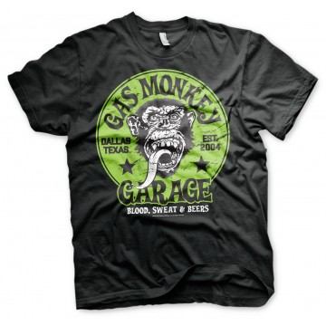 Tee-shirt Gas Monkey Green logo