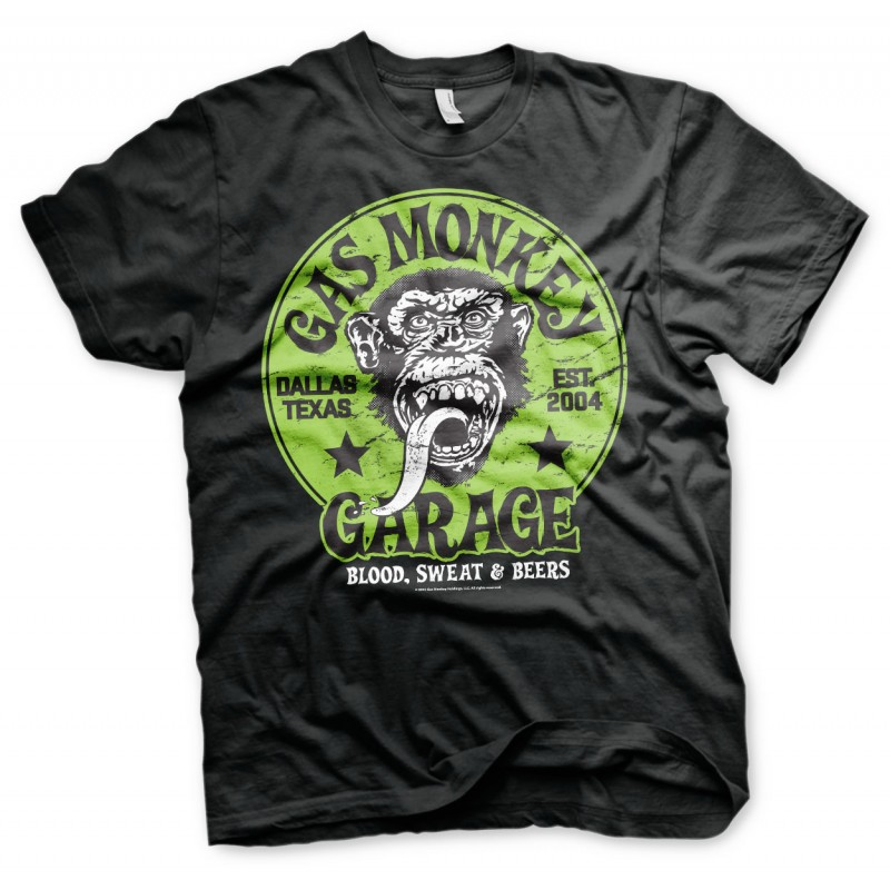 Tee-shirt Gas Monkey Green logo