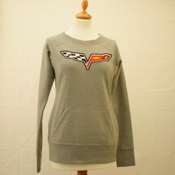 Sweat gris logo Chevrolet pour femme
