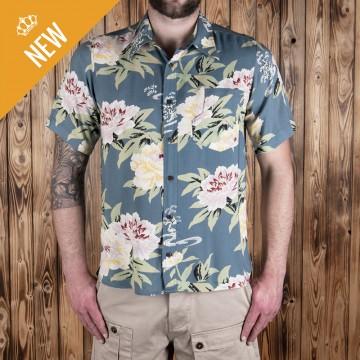 Chemise hawaiienne Maohu bleue Pike Brothers