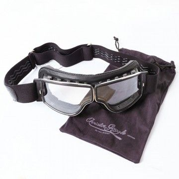 Masque chrome noir Aviator Goggle