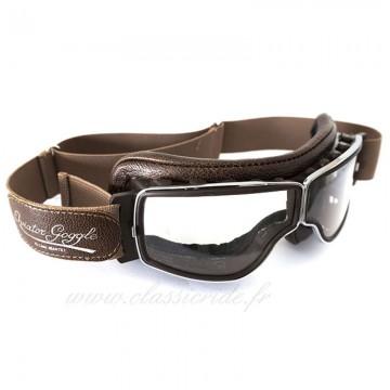 Masque chrome marron Aviator Goggle