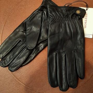 Gants cuir noir conductive Stetson