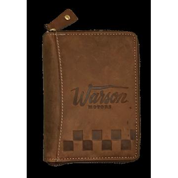 Portefeuille cuir zippé Warson Motors