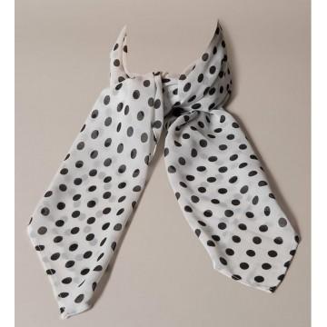 foulard rétro blanc pois noirs