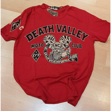 Tee-shirt Death Valley rouge Johnson Motors