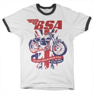 Tee-shirt BSA union jack ringer