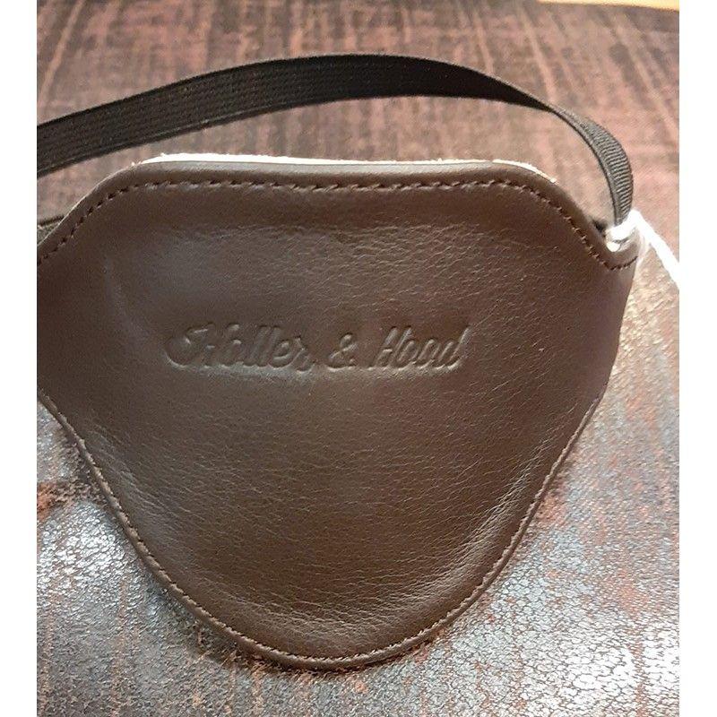 Protection sélecteur cuir marron foncé