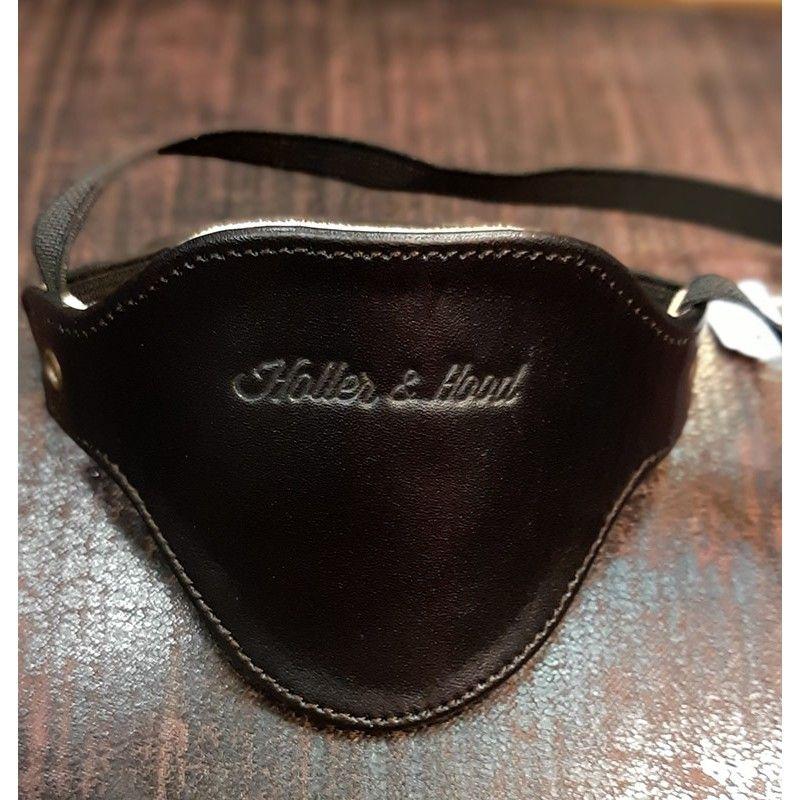 Protection sélecteur cuir noir