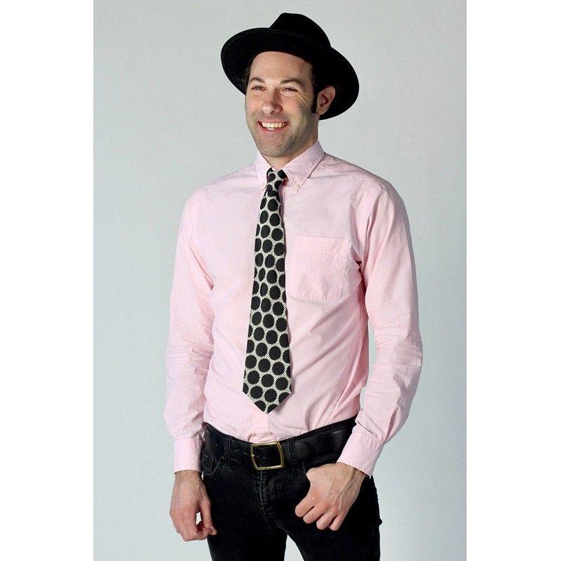 Cravate rétro à pois
