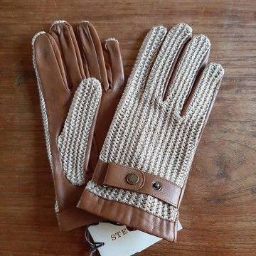 gants crochet et cuir Stetson